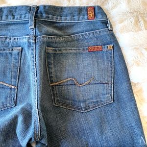 7 For All Mankind Bootcut Denim Blue Jeans 27